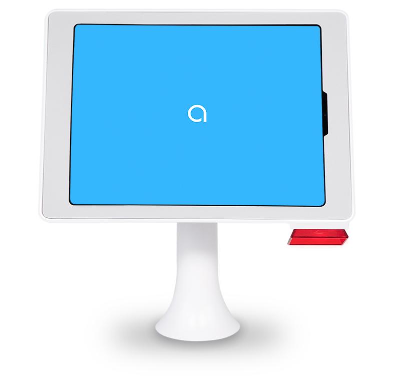 Aila Interactive Kiosk iPad Pro Table Mount White